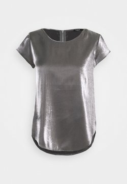 ONLY Petite - ONLVIC SHIMMER TOP - Blusa - silver colour