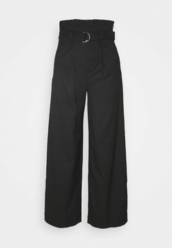 Monki - VERA TROUSERS - Pantalon classique - black