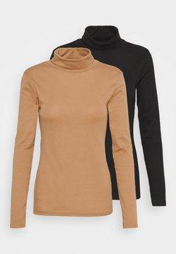 Dorothy Perkins - ROLL NECK 2 PACK  - Maglietta a manica lunga - black/camel