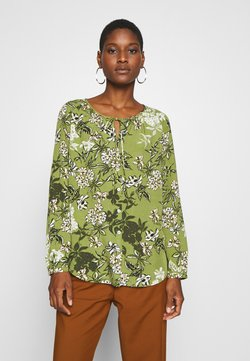 Marc O'Polo - BLOUSE OPEN V-NECK LONG SLEEVED - Bluse - multi