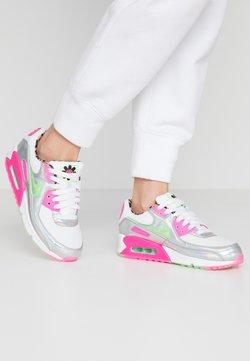 Nike Sportswear - AIR MAX 90 - Matalavartiset tennarit - white/illusion green/laser fuchsia/black