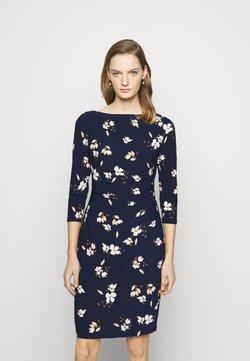 Lauren Ralph Lauren - PRINTED DRESS - Jerseykleid - navy/taupe