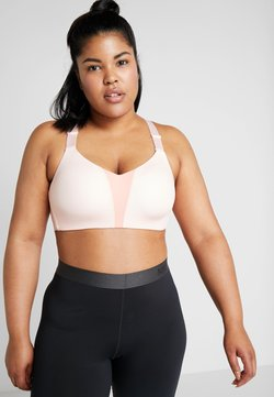 Nike Performance - RIVAL BRA PLUS - Sport BH - echo pink/pink quartz/white
