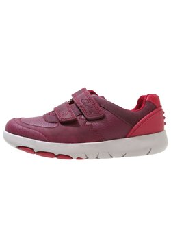 Clarks - REX QUEST - Sneakers laag - berry red