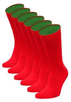 von Jungfeld - SECHSERPASCH - Socken - rot