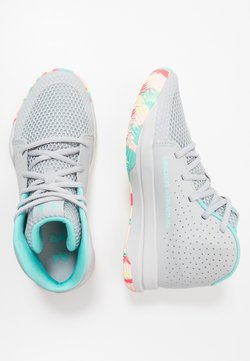 Under Armour - JET 2019 UNISEX - Basketbalschoenen - mod gray/halo gray/radial turquoise