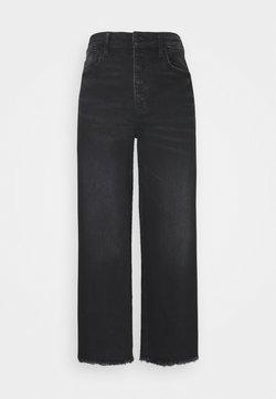 American Eagle - WIDE LEG CROP - Jeans Straight Leg - black blaze