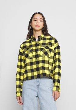 Tommy Jeans - GINGHAM CHECK  - Paitapusero - star fruit yellow/black