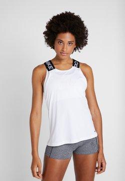 Nike Performance - DRY ELASTIKA TANK - Tekninen urheilupaita - white/black