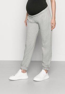 MAMALICIOUS - MLNICOLE PANTS - Jogginghose - light grey melange/white