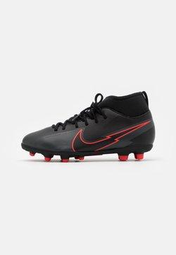 Nike Performance - MERCURIAL 7 CLUB FG/MG - Fotballsko - black/dark smoke grey
