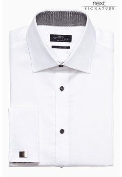 Next - SIGNATURE WEAVE SHIRT - Businesshemd - white