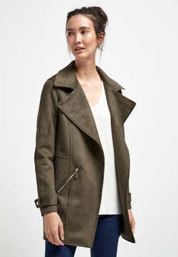 Next - FAUX SUEDE  - Kurzmantel - green