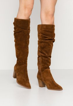 Anna Field - LEATHER BOOTS - Kozaki - cognac