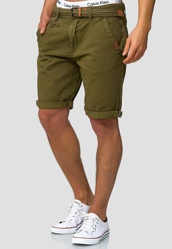 INDICODE JEANS - CASUAL FIT - Shorts - grün army