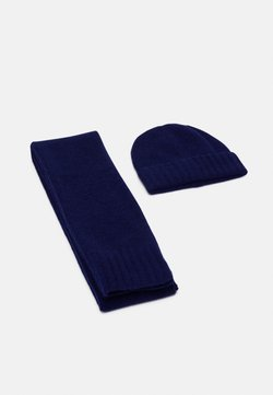 Pier One - UNISEX SET - Schal - dark blue
