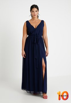Little Mistress Curvy - ROSE NECK MAXI DRESS - Ballkleid - navy