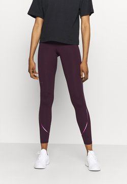Under Armour - RUSH SCALLOP LEG  - Tights - polaris purple