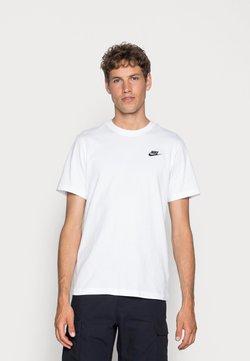 Nike Sportswear - CLUB TEE - T-shirt basique - white/black