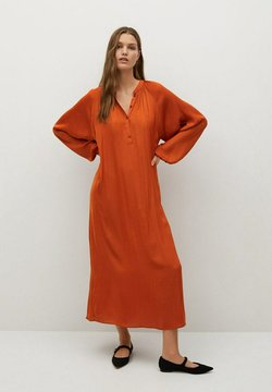 Mango - JURK - Vestido largo - oranjebruin
