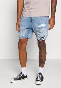 Brave Soul - DUKE - Jeans Shorts - light blue