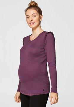 Esprit Maternity - MIT GLITZERNDEN RÜSCHEN - T-shirt à manches longues - dark lavender