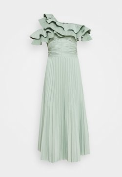 Missguided Tall - ONE SHOULDER PLEATED SKIRT DRESS - Vestito elegante - sage