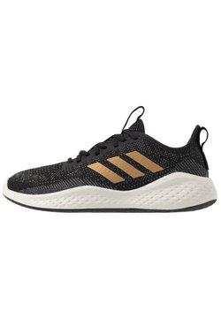 adidas Performance - FLUIDFLOW - Zapatillas de running neutras - core black/tactile gold metallic/grey six