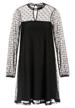 Pussy Deluxe - A-LINIEN-KLEID BLACK DOTS - Cocktailkleid/festliches Kleid - schwarz