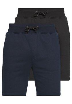 Pier One - 2 PACK - Shorts - dark blue/black