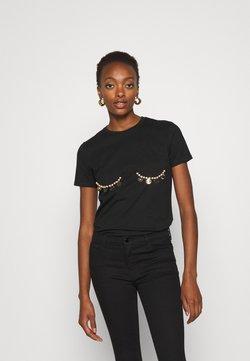 Elisabetta Franchi - T-shirt z nadrukiem - nero
