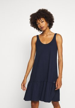 TOM TAILOR DENIM - DRESS WITH BACK DETAIL - Sukienka z dżerseju - real navy blue