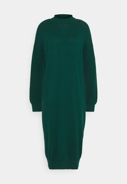 edc by Esprit - ROLLNECK - Gebreide jurk - dark teal green