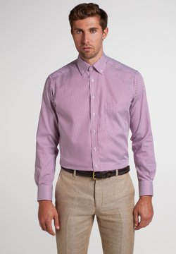 Eterna - COMFORT FIT - Businesshemd - aubergine/weiss