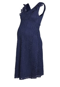Dorothy Perkins Maternity - OCCASION FIT AND FLARE DRESS - Cocktailklänning - navy