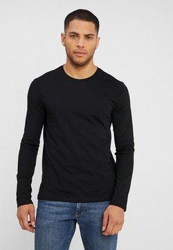 Benetton - BASIC CREW NECK - Long sleeved top - black