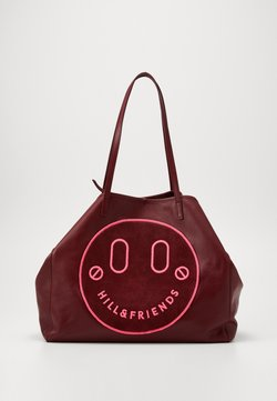 Hill & Friends - HAPPY SLOUCHY TOTE - Shopping Bag - oxblood