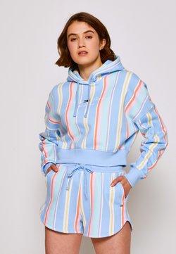 Tommy Jeans - STRIPE HOODIE - Sweatshirt - light powdery blue