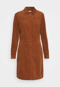 Marc O'Polo - DRESS STYLE BUTTON PLACKET DETAILS - Blusenkleid - chestnut brown