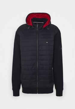 Tommy Hilfiger - MIXED MEDIA HOODED ZIP - Summer jacket - blue
