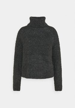 ONLY - ONLOLIVIA LOOSE ROLLNECK  - Sweter - charcoal gray