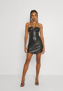 Missguided - DOUBLE CUT OUT MINI DRESS - Vestito elegante - black