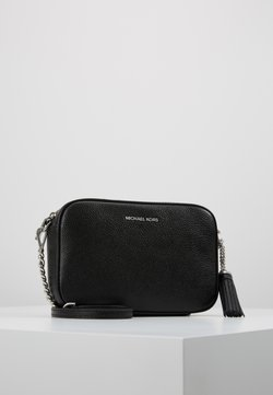 MICHAEL Michael Kors - JET SET CAMERA BAG MERCER PEBBLE - Umhängetasche - black