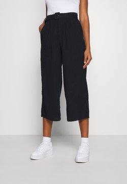 Hollister Co. - WIDE LEG  - Pantalones - black