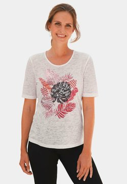 ATELIER GS - T-Shirt print - stein / gemustert