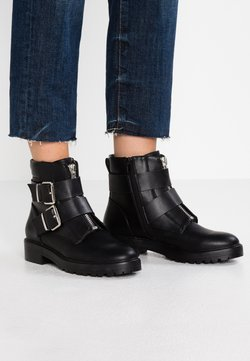 ONLY SHOES - ONLBAD DOUBLE BUCKLE BOOTIE - Botines camperos - black
