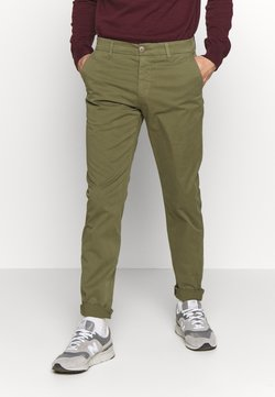 Knowledge Cotton Apparel - CHUCK LOOSE CHINO - Chinot - burned olive