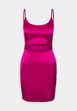 Missguided - CUT OUT BODYCON MINI DRESS - Sukienka koktajlowa - pink