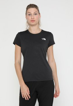 The North Face - WOMENS REAXION CREW - T-Shirt basic - black heather