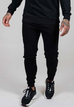 Ed Hardy - ED PANEL JOGGER - Jogginghose - black